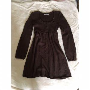 🌿🌿Roxy knit brown long sleeve sweater dress